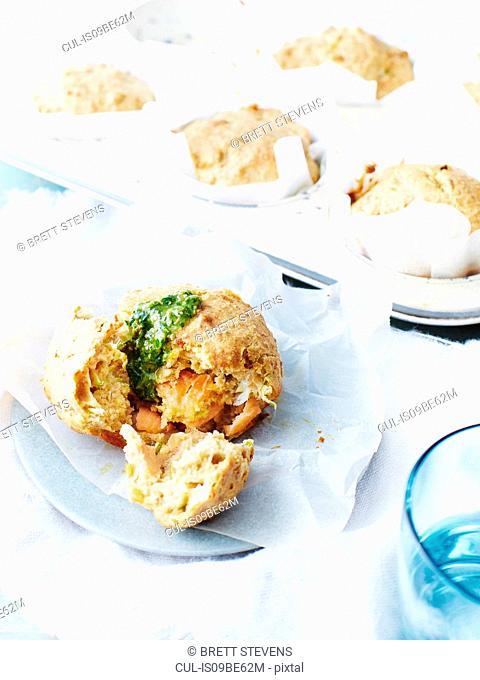 Smoked salmon savoury muffins