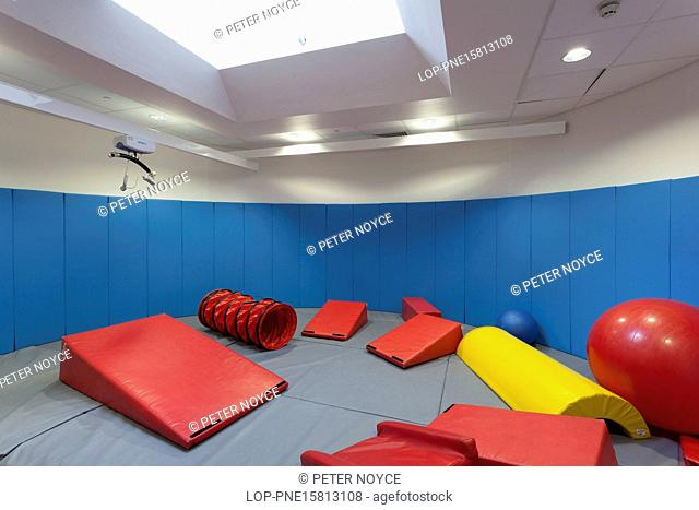 England, Wiltshire, Salisbury. Soft play room in special needs school