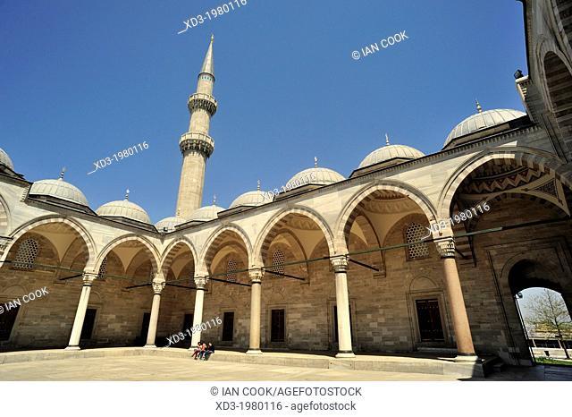 Suleiman or Suleymaniye Mosque, Istanbul, Turkey