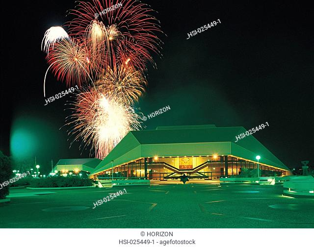 Travel, Australia, South Australia, Adelaide, Festival Centre, Firework display