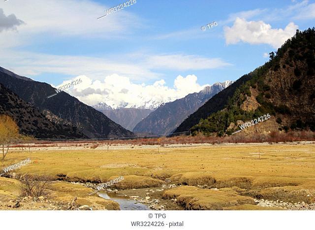 Beautiful Tibet landscape, China