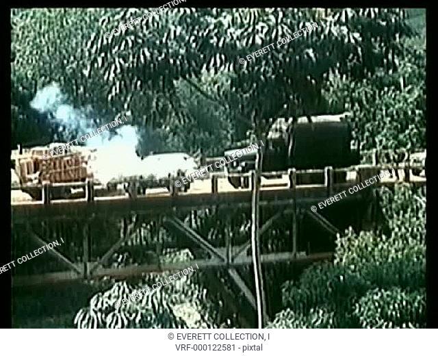 Long shot gun fight on bridge
