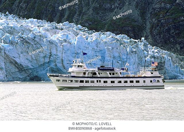The SPIRIT OF GLACIER BAY tourist boat, USA, Alaska, Glacier Bay National Park