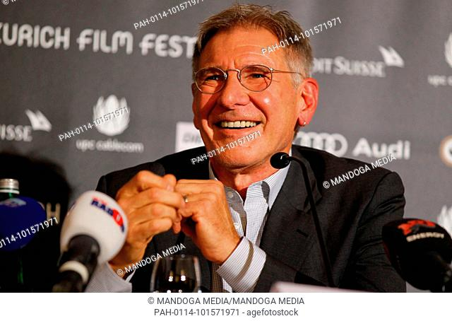 Zurich, Switzerland. 04th Oct, 2013. Actor Harrison Ford receiving Golden Eye Award for Lifetime Achievement at the Zurich Film Festival | usage worldwide