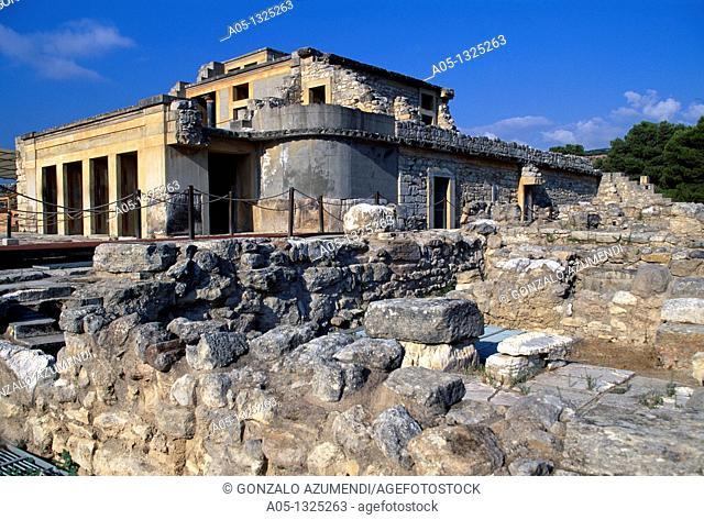Ancient capital and birthplace of the Minoan civilization Palace of Knosos, Minoan Art, Knosos, Iraklio Province, Crete, Greece