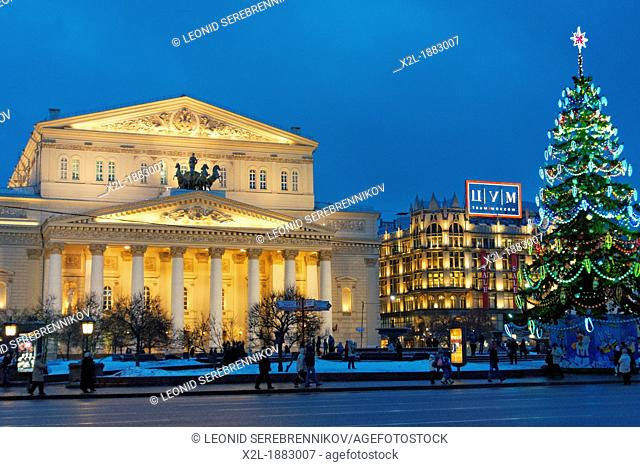 The Bolshoi Theatre  Moscow, Russia