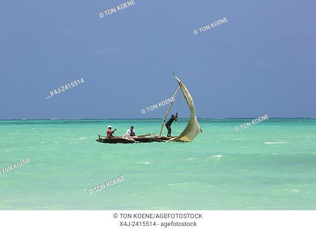 traditional dhow in Zanzibar