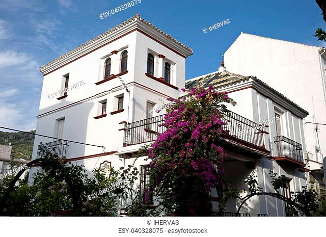 Traditional houses in Ubrique, Cadiz. This village is part of the pueblos blancos (white towns) in southern Spain Andalusia region, and reminds the Arab past