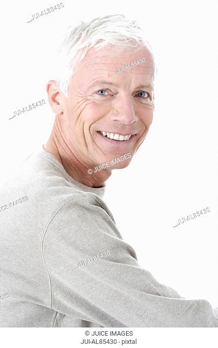 Close up of senior man smiling