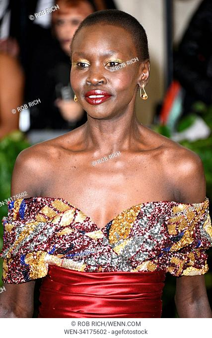 Celebs flock to the Costume Institute Gala at the Metropolitan Museum in NYC Featuring: Alek Wek Where: Manhattan, New York