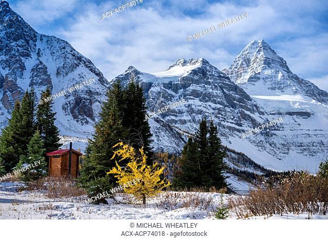 Cabin outhouse the Mount Assiniboine Lodge, Mount Assiniboine Provincial Park, British Columbia, Canada