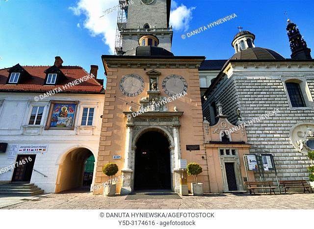 Entrance to Basilica, most famous Polish pilgrimage site - Jasna Gora, sanctuary of Our Lady of Czestochowa - Queen of Poland and the Pauline monastery