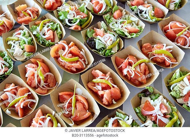 Salad, Catering in congress, Donostia, San Sebastian, Gipuzkoa, Basque Country, Spain, Europe
