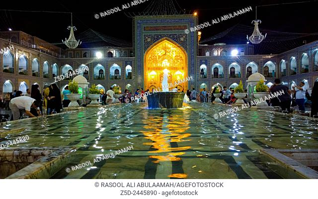 Internal shot of the shrine of Imam Ali al-Rida , It is the shrine of eighth imam to the Shiite sect and is located in the city of Mashhad