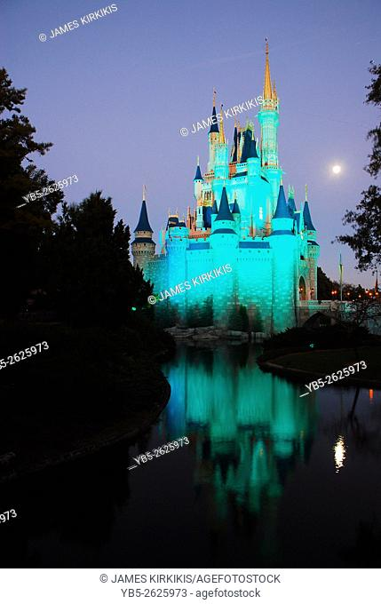 Moon Rising on Cinderellas Castle