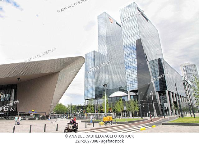 Roterdam Centraal Station, the strain station square in Roterdam Holland The Netherlands on June 8, 2014