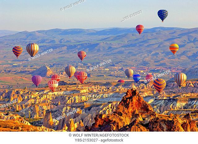 Hot Air Ballons above the Uergip Valley in Cappadocia