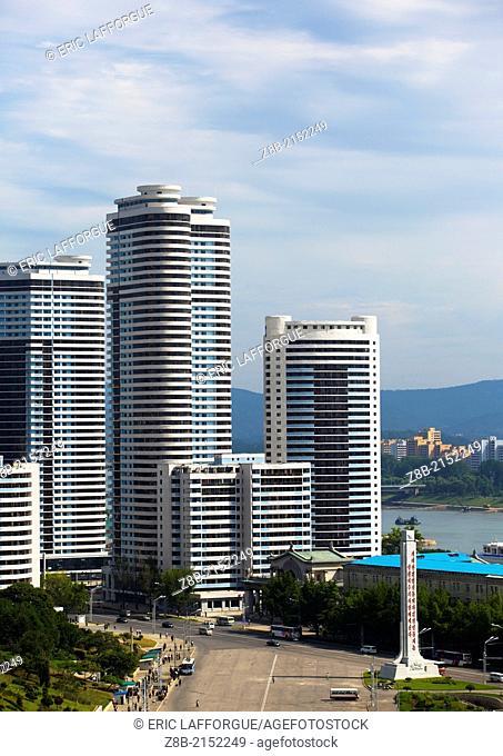 New Buildings, Pyongyang, North Korea