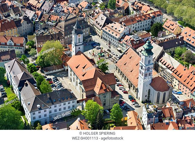 Germany, Bavaria, Lindau, St. Stephen's church and collegiate church of our Dear Lady