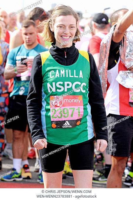 2016 Virgin Money London Marathon - Celebrity Start Featuring: Camilla Rutherford Where: London, United Kingdom When: 24 Apr 2016 Credit: Chris Jepson/WENN