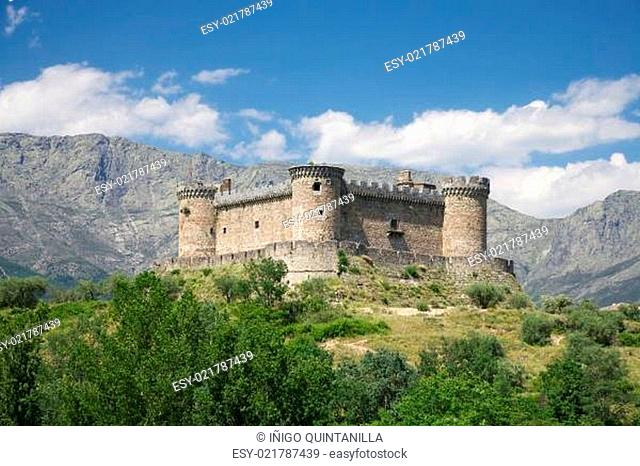 Mombeltran castle and mountains