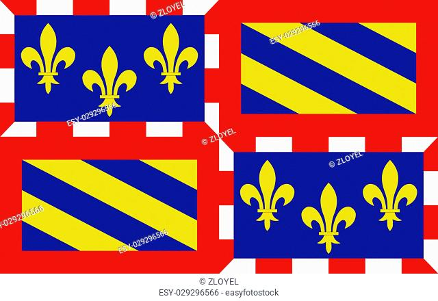 Flag of Burgundy - historical area and the region of east-central France. Administrative center - the city of Dijon. Burgundy comprises the following four...
