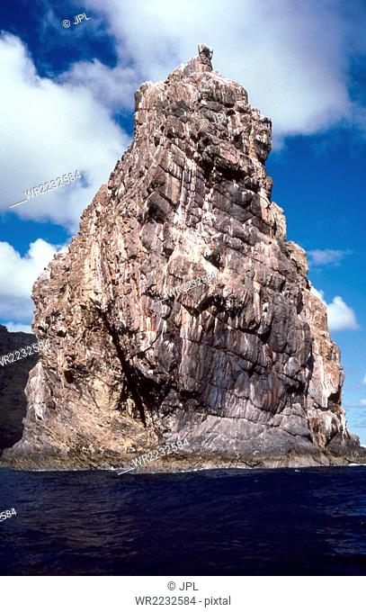 Chile, Sea stack of Motu Kau Kau used for the Tangata Manu ceremony, Easter Island, Rapa Nui National Park, South America