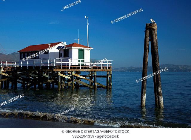 Gulf of the Farallones National Marine Sanctuary headquarters pier, Presidio of San Francisco, Golden Gate National Recreation Area, San Francisco, California
