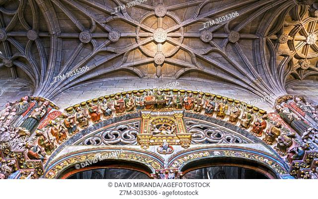 Pórtico del Paraíso (Portal of Paradise). San Martin Romanesque Cathedral. Ourense. Galicia. Spain