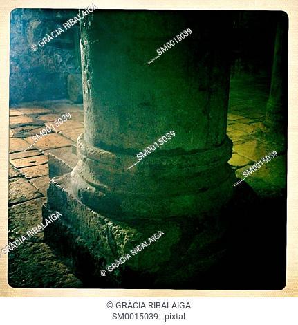 Old column in Jerusalem, Israel