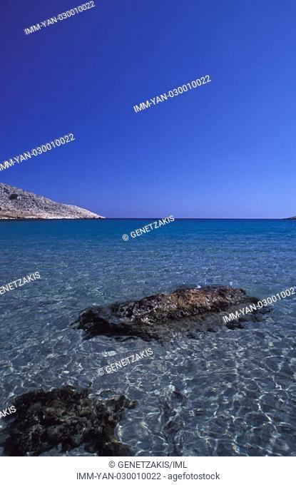 Pondanos beach  Halki, Dodecanese, Greece