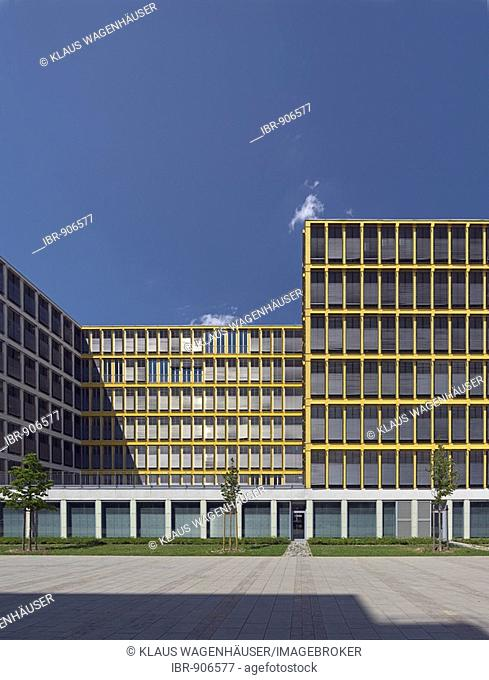 Contemporary office building, Westend, Munich, Bavaria, Germany, Europe
