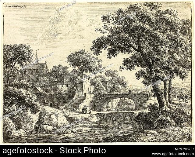 The Two Bridges - 1650/60 - Antoni Waterlo Dutch, 1609-1690 - Artist: Anthonie Waterloo, Origin: Holland, Date: 1650–1660, Medium: Etching on paper