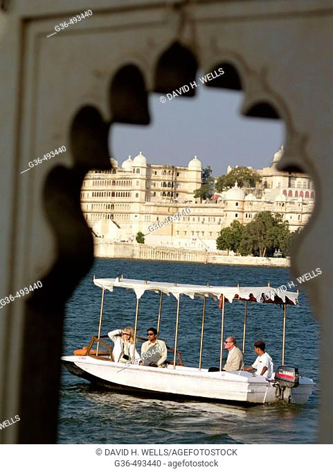 View of City Palace, Udaipur, Rajasthan, India