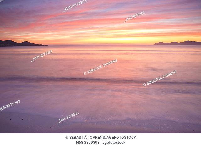 Alcudia bay at dawn, Majorca, Spain