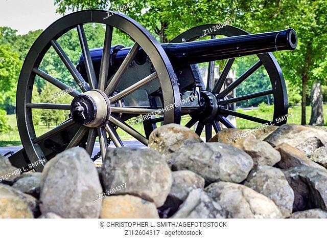 Artillery cannon at Seminary Ridge Gettysburg Pennsylvania PA