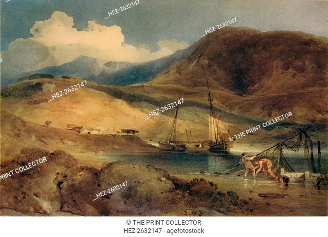 'Cader Idris, from Barmouth Sands', c1833. Artist: John Sell Cotman
