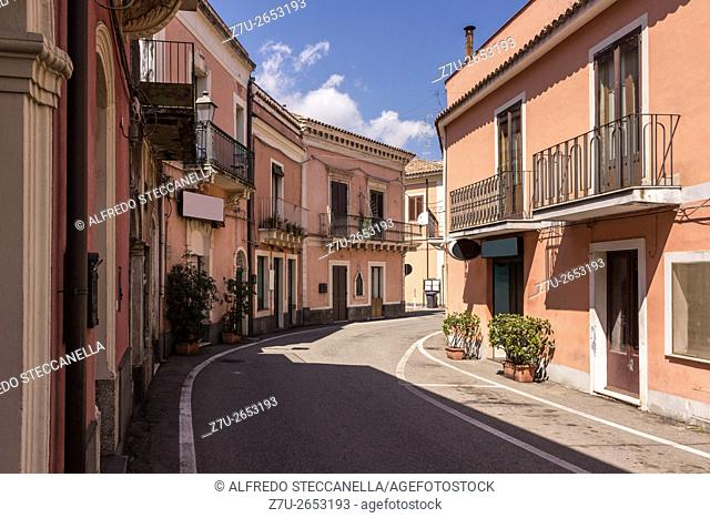 Catania - Sicily - Italy: The very old sicilian houses and street