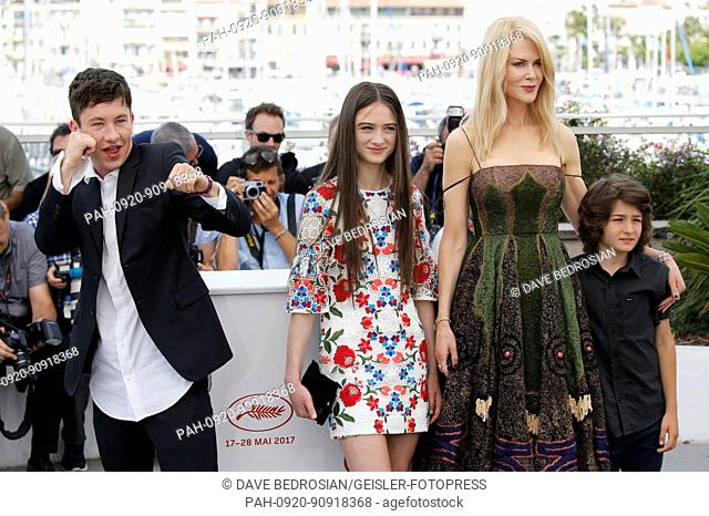 Barry Keoghan, Raffey Cassidy, Nicole Kidman and Sunny Suljic at the 'The Killing of a Sacred Deer / Mise à mort du cerf sacré' photocall during the 70th Cannes...