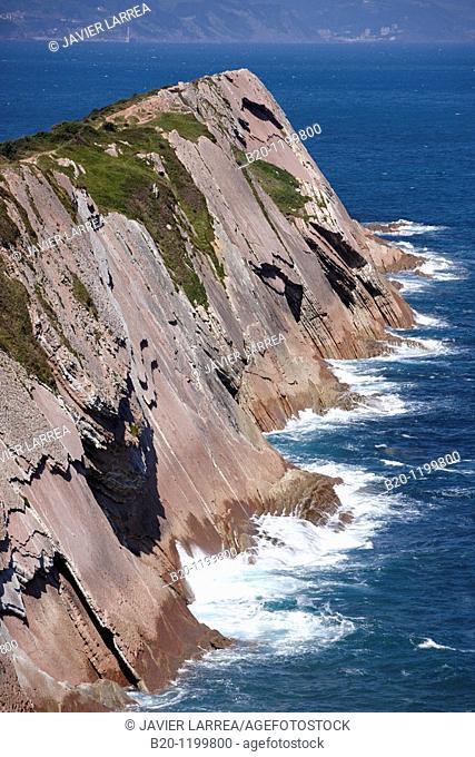 Flysch, tidal platform, Algorri, Zumaia, Guipuzcoa, Basque Country, Spain