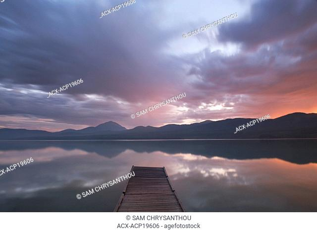 Dock on Squanga Lake, Yukon Territory, Canada