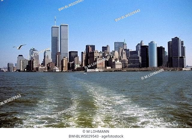 Lower Manhattan, Battery Park and Financial Distrikt, World Trade Center, USA, New York City