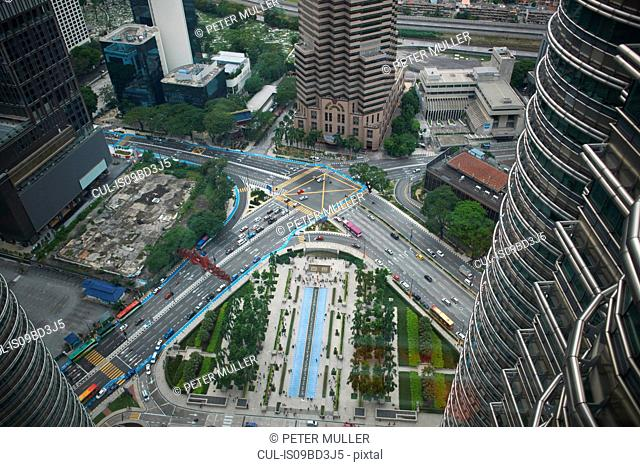 Elevated view from petronas towers, Kuala Lumpur, Malaysia