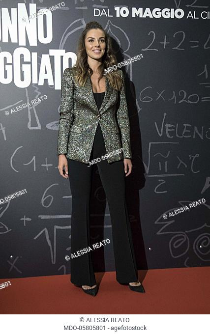 The italian model and showgirl Alessia Reato at the photocall of the film Tonno Spiaggiato, directed by Matteo Martinez with Frank Matano at the Cinema Anteo
