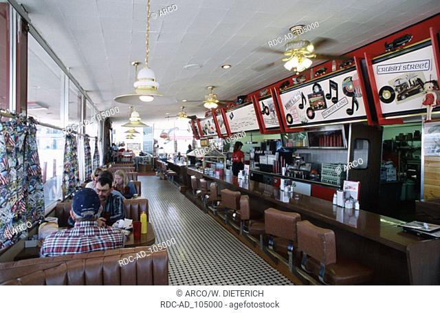Guests in Restaurant Diner 'Route 66' Willliams Arizona USA