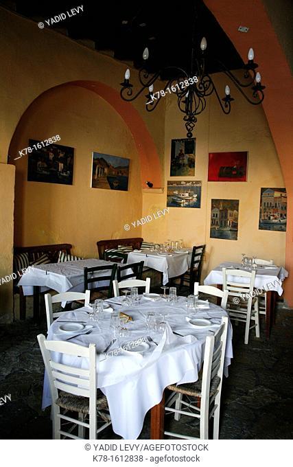 Mythos restaurant, Symi, Greece
