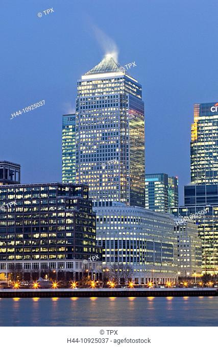 UK, United Kingdom, Great Britain, Britain, England, London, Docklands, Canary Wharf, Skyscrapers, Office Block, Business, Commerce, Financial District