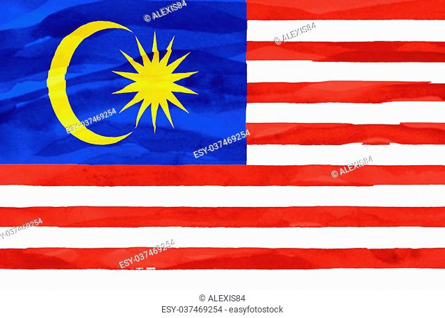 Painted flag of Malaysia