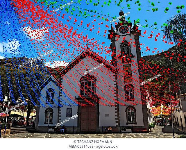 Island Madeira, Ribeira Brava, the church Igreja de Sao Bento