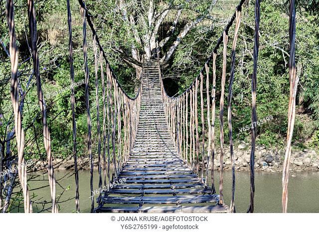 rope bridge, Lao Chai, Sapa, Vietnam, Asia